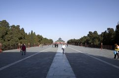 Big entrance way at Temple of Heaven Beijing royalty free stock photography