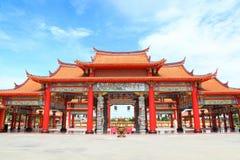 The big entry of China temple at Thumkatunyoo stock photos
