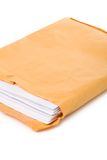 Big envelope and document Royalty Free Stock Photos