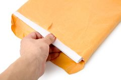 Big envelope and document Stock Image