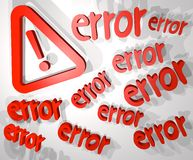 Big error Royalty Free Stock Photography