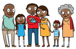 Big ethnic family Stock Image