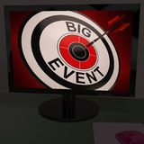 Big Event On Monitor Showing Concerts Stock Photography