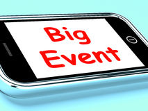 Big Event On Phone Shows Celebration Occasion Festival And Perfo. Big Event On Phone Showing Celebration Occasion Festival And Performance Stock Image