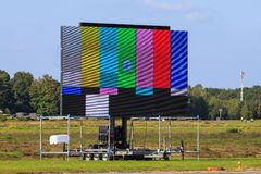Big event screen. Big screen used at events, showing test pattern Royalty Free Stock Photos