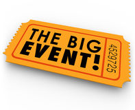 The Big Event Special Access Ticket Pass Royalty Free Stock Photography