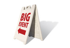 Big Event Tent Sign. Isolated on a White Background stock photography