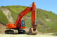 The Big excavator. Royalty Free Stock Images