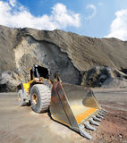 Big excavator in mine. Royalty Free Stock Image