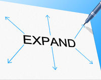 Big Expand Represents Increase In Size And Enlarge Royalty Free Stock Photos