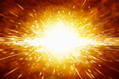 Big explosion. Abstract scientific background - big red explosion in space royalty free stock image