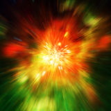 Big explosion in space and relic radiation. Elements of this image furnished by NASA http://www.nasa.gov/.  Royalty Free Stock Photo
