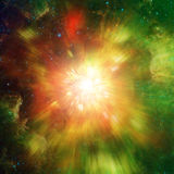 Big explosion in space and relic radiation. Elements of this image furnished by NASA http://www.nasa.gov/.  Royalty Free Stock Image