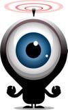 Big eye cartoon character transmitting red radio waves Stock Photography
