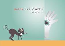 Big eye Halloween  art background eps10 Royalty Free Stock Image