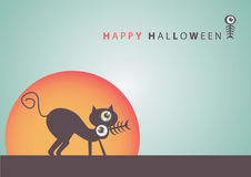 Big eye Halloween  art background eps10 Royalty Free Stock Images