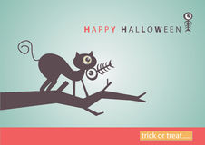 Big eye Halloween  art background eps10 Royalty Free Stock Photos