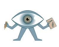 Big eye with an idea sketch book Stock Photos