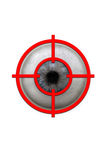 Big eye in red target Royalty Free Stock Images