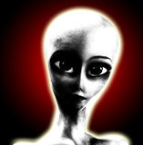 Big Eyed Alien Royalty Free Stock Photo