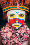 Big-eyed boy in Papua New Guinea Stock Image