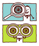 Big eyes vector illustration