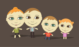 Big eyes family Stock Photography