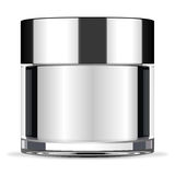Big face cream jar Royalty Free Stock Image
