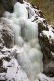 Big Falcon ravine in Slovak Paradise National park in winter, Slovakia stock images