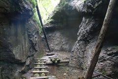 Big Falcon ravine, Slovak Paradise, Slovakia stock photo