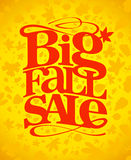 Big fall sale design. Big fall sale typography design Royalty Free Stock Images