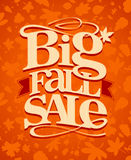 Big fall sale design. Stock Photos