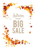 Big fall sale elements Royalty Free Stock Photo