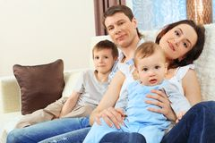 Big family Royalty Free Stock Photography