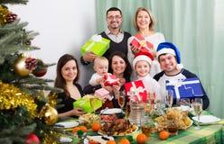 Big family celebrating Merry Christmas Royalty Free Stock Photo