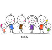 Big family with children Royalty Free Stock Photography