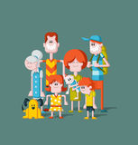 Big family. Royalty Free Stock Images
