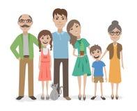 Big family flat vector characters Stock Image