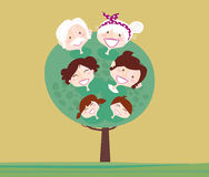 Big family generation tree Royalty Free Stock Images