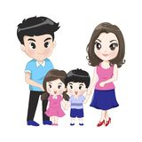 The big family has parents son daughter vector illustration