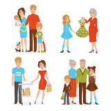Big Family Icons Set Royalty Free Stock Photography