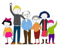 Big family. Illustration of a big family Royalty Free Stock Photography