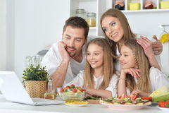 Big family on the kitchen Royalty Free Stock Photography