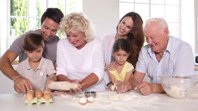 Big family making pastry Stock Photos