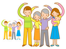 Big family Mascot love gesture. Home and Family Character Design Royalty Free Stock Images