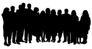 Big family portrait. A big family black color portrait, silhouette vector Stock Photography