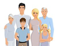 Big family portrait Stock Image