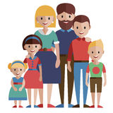 Big family portrait. Big family portrait, vector illustration Royalty Free Stock Photography