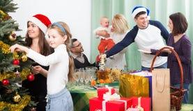 Big family preparing for Christmas Stock Image