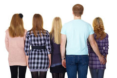 Big family. The view from the back Royalty Free Stock Photos